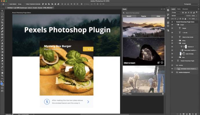 Pexels Photoshop plugin