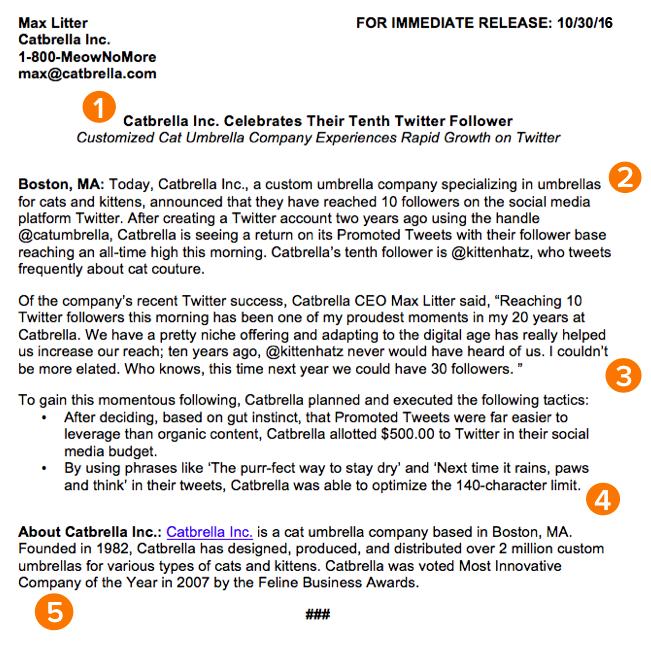Example of a press release format robertottni example altavistaventures Image collections