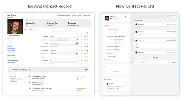 A Tour of HubSpot's New Contact Record