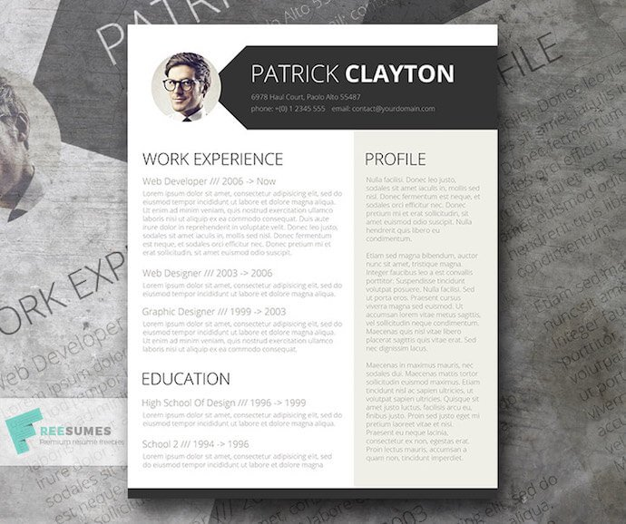 Smart and Professional resume template for MS Word