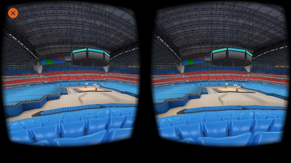 360-view of basketball stadium in VR