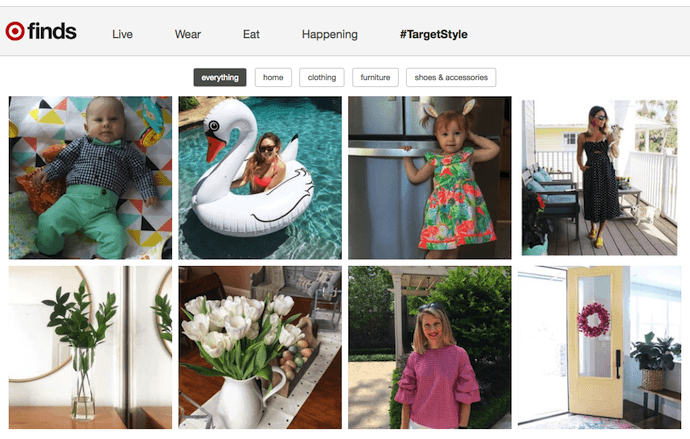 Target Finds ecommerce Instagram content idea