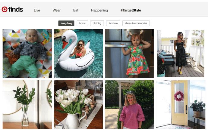 Target Finds ecommerce Instagram content idea