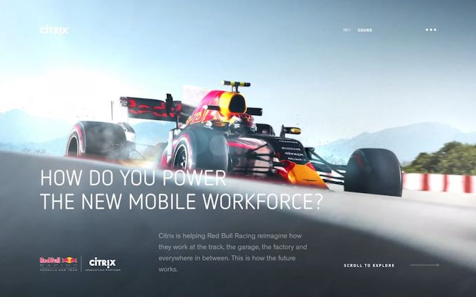 Homepage of The New Mobile Workforce by Citrix, an award-winning website