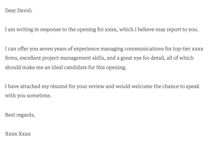 Cover Letter Format For Work Experience - Cover Letter Examples