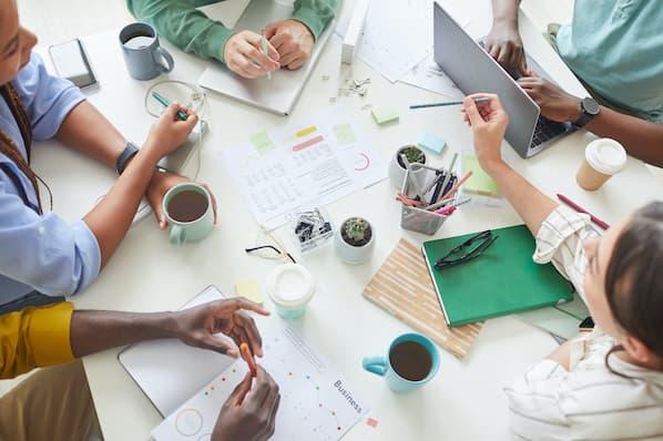 Team brainstorms marketing strategies