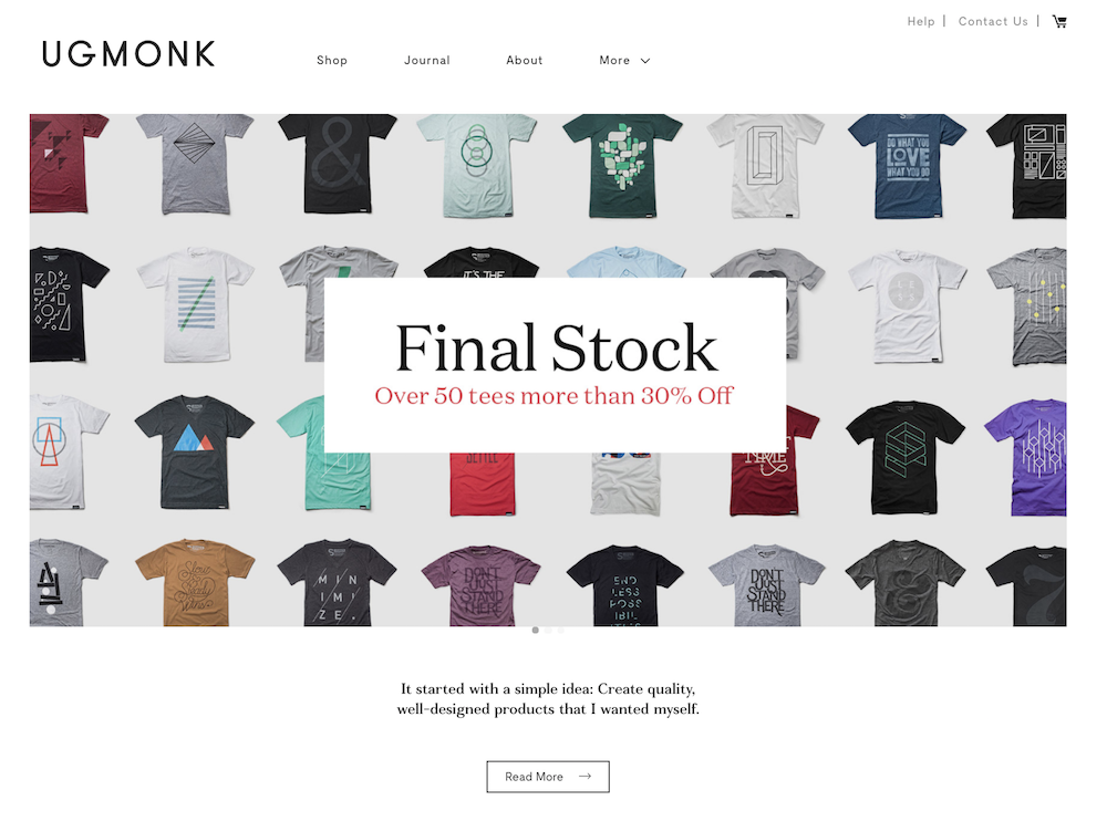 UgMonk Shopify store