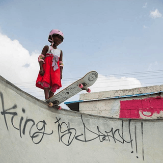 Vans Instagram featuring Kamali, an Indian girl who skateboards