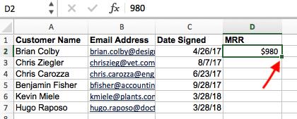從Excel的VLOOKUP公式構建器中輸入第一個新值