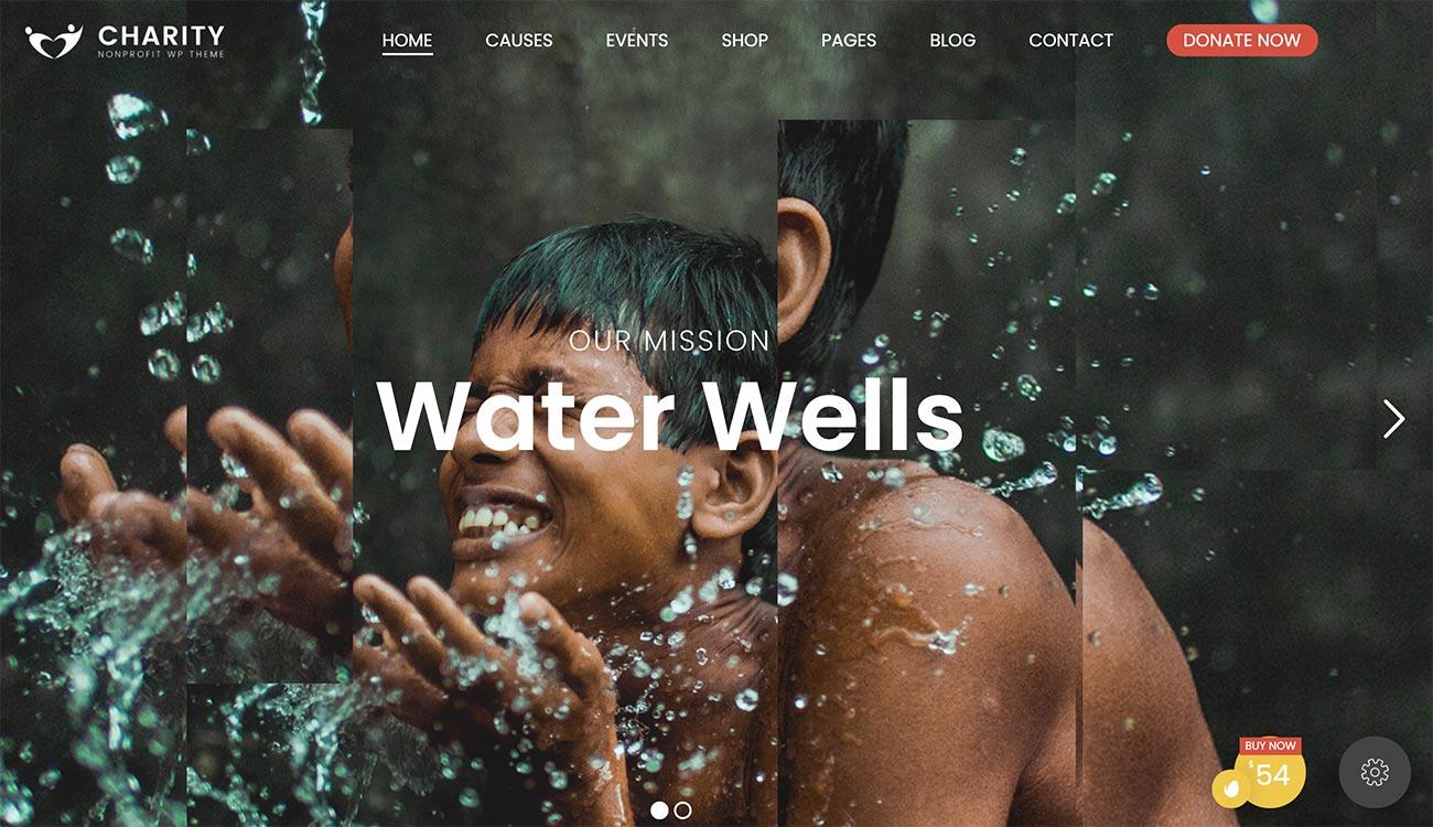 Charity Foundation WordPress theme for nonprofit organizations
