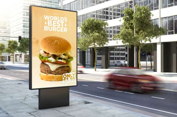 A personalized marketing campaign shows people in a neighborhood their favorite burger based on data collected by the restaurant.