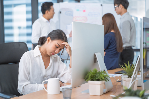 Employee feeling less productive in 2021 than she did in 2020