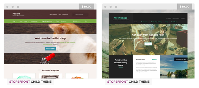 child themes in woocommerce